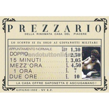 STAMPA VINTAGE CASE DI TOLLERANZA PREZZARIO