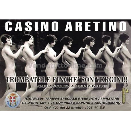 STAMPA VINTAGE CASE DI TOLLERANZA CASINO ARETINO