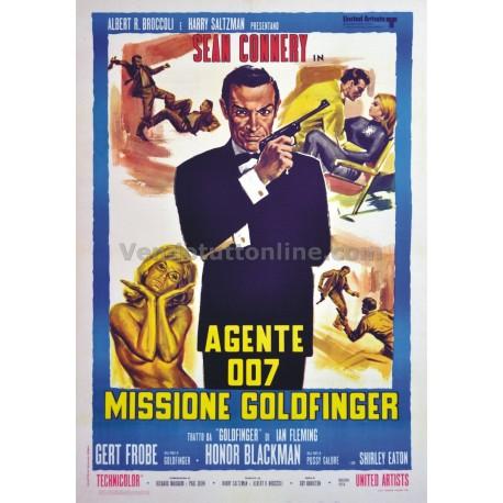 STAMPA VINTAGE AGENTE 007 MISSIONE GOLDFINGER
