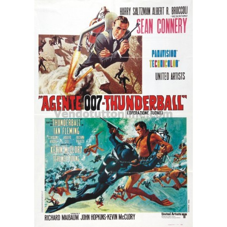 STAMPA VINTAGE AGENTE 007 THUNDERBALL