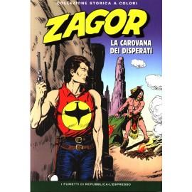 """ZAGOR COLLEZIONE STORICA A COLORI """"LA CAROVANA DEI DISPERATI"""" EP. 46"""