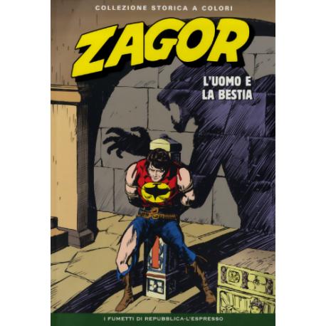 """ZAGOR COLLEZIONE STORICA A COLORI """"L'UOMO E LA BESTIA"""" EP. 54"""