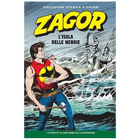 """ZAGOR COLLEZIONE STORICA A COLORI """"L'ISOLA DELLE NEBBIE"""" EP. 60"""
