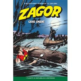 """ZAGOR COLLEZIONE STORICA A COLORI """"CAVIE UMANEA"""" EP. 61"""