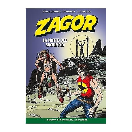 """ZAGOR COLLEZIONE STORICA A COLORI """"LA NOTTE DEL SACRIFICIO"""" EP. 124"""