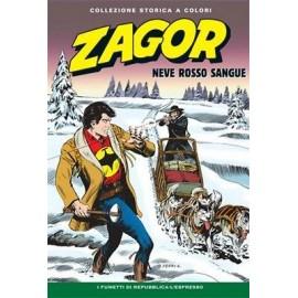 """ZAGOR COLLEZIONE STORICA A COLORI """"NEVE ROSSO SANGUE"""" EP. 128"""