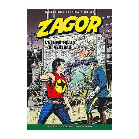 """ZAGOR COLLEZIONE STORICA A COLORI """"L'ULTIMA FOLLIA DI VERYBAD"""" EP. 129"""