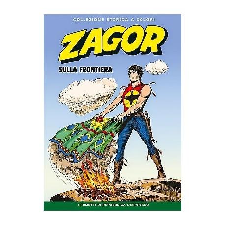 """ZAGOR COLLEZIONE STORICA A COLORI """"SULLA FRONTIERA"""" EP. 136"""