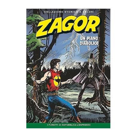 """ZAGOR COLLEZIONE STORICA A COLORI """"UN PIANO DIABOLICO"""" EP. 154"""