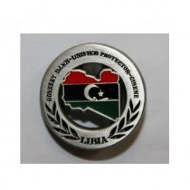 DISTINTIVO COMMEMORATIVO MISSIONE MILITARE ALL'ESTERO - LIBIA - METALLO SMALTATO