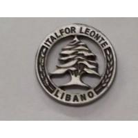 DISTINTIVO COMMEMORATIVO MISSIONE MILITARE ALL'ESTERO - LIBANO ITALFOR LEONTE - METALLO