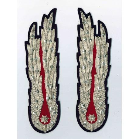 ALAMARI IN CANOTTIGLIA DA UNIFORME - DIMENSIONI 16,5x4,5 cm