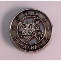 DISTINTIVO COMMEMORATIVO DA CAMICIA MISSIONE MILITARE ALL'ESTERO - ALBANIA ALBA - METALLO Diametro 1,7 cm