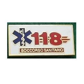 DISTINTIVO SOCCORSO SANITARIO 118 - METALLO SMALTATO