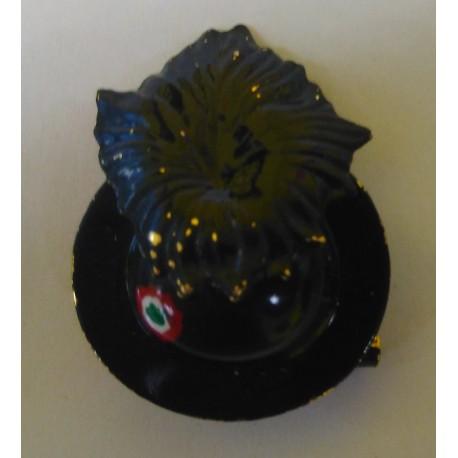 DISTINTIVO MILITARE BERSAGLIERI - METALLO - DIAMETRO 2,5 cm