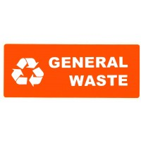 CARTELLONISTICA ADESIVA RECYCLING GENERAL WASTE 15x6 CM