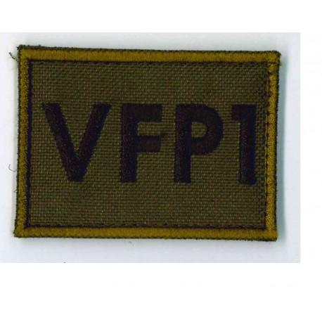 TOPPA MILITARE CON VELCRO VFP1 DIMENSIONI 6,8 x 5,0 CM