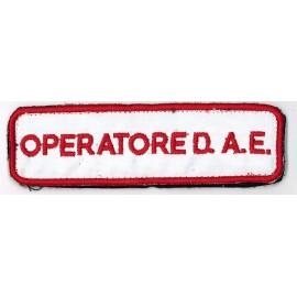 TOPPA PATCH OPERATORE D.A.E. CON VELCRO - CM 11,8 x 3,5