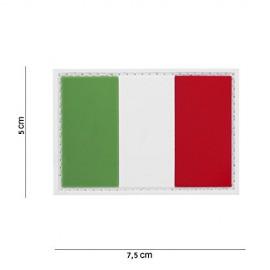 TOPPA PATCH 3D PVC BANDIERA ITALIA CON VELCRO - DIM. 7,5 x 5,0 cm