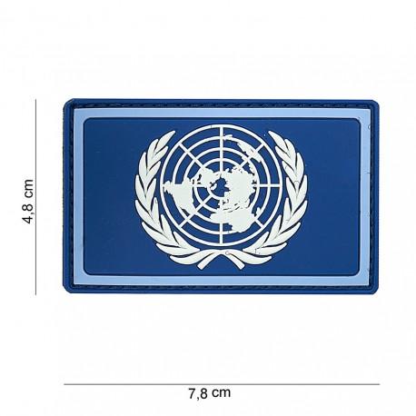 TOPPA PATCH 3D PVC NAZIONI UNITE CON VELCRO (BLU) - DIM. 7,8 x 4,8 cm