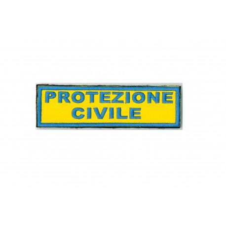 TOPPA PATCH PROTEZIONE CIVILE CON VELCRO - DIM. 12,0 x 3,5 cm