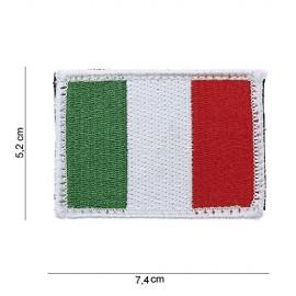 TOPPA PATCH BANDIERA ITALIA CON VELCRO - DIM. 7,4 x 5,2 cm