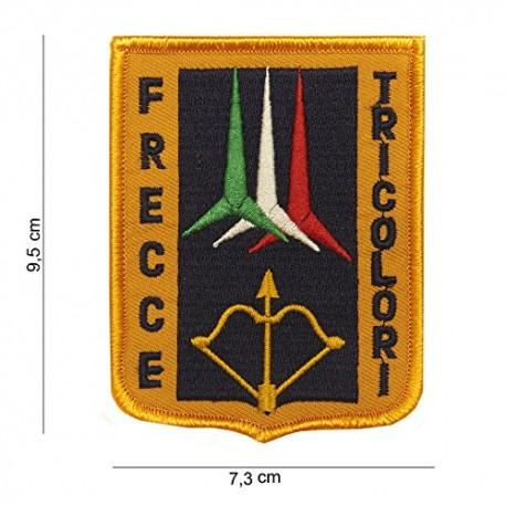 TOPPA PATCH MILITARE TERMOADESIVA AERONAUTICA MILITARE - FRECCE TRICOLORI - DIM. 7,3 x 9,5 cm