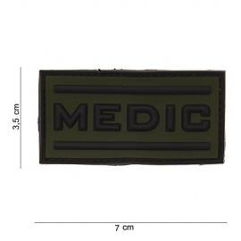 TOPPA PATCH PVC MEDIC CON VELCRO (VERDE) - DIM. 7,0 x 3,5 cm