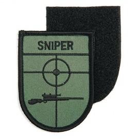 TOPPA PATCH MILITARE SNIPER CON VELCRO