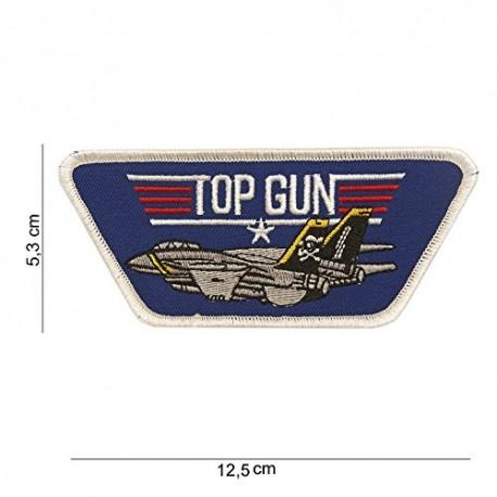TOPPA PATCH MILITARE TOP GUN TERMOADESIVA - DIM. 12,5 x 5,3 cm