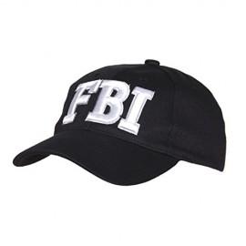 BERRETTO FBI COLORE NERO CON SCRITTA BIANCA - TAGLIA UNIVERSALE - 100% COTONE