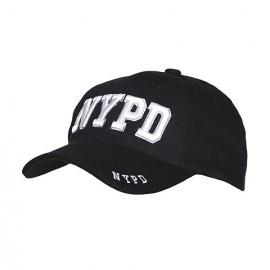 BERRETTO NYPD - COLORE NERO CON SCRITTA BIANCA - TAGLIA UNIVERSALE - 100% COTONE