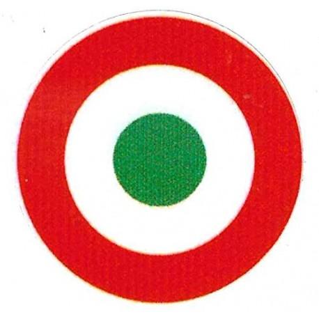 STICKERS ADESIVO COCCARDA TRICOLORE DIAMETRO 8 cm