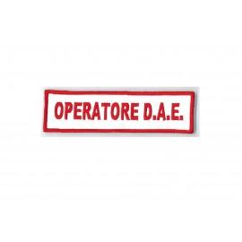 TOPPA PATCH OPERATORE D.A.E. CON VELCRO - DIM. 11,8 x 3,3 cm