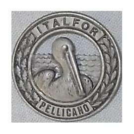 DISTINTIVO COMMEMORATIVO MISSIONE MILITARE ALL'ESTERO - ALBANIA ITALFOR-PELLICANO - METALLO DIAMETRO 2,5 cm