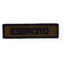 TOPPA PATCH MILITARE ESERCITO ITALIANO CON VELCRO - CM 12x3