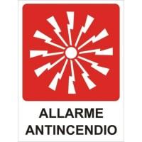 CARTELLONISTICA ADESIVA ALLARME ANTINCENDIO 10,5x14 CM