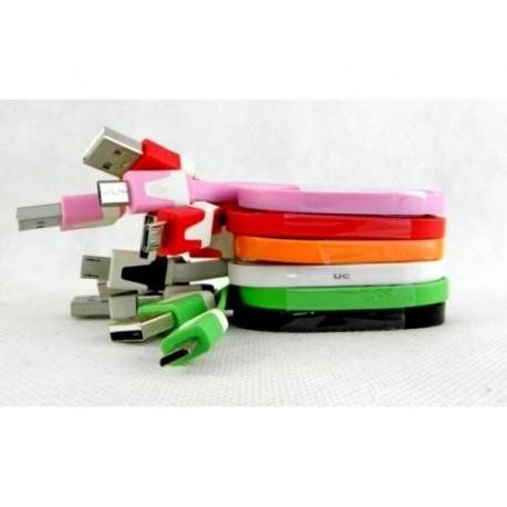 CAVO PIATTO USB MICRO USB. LUNGHEZZA 100 CM.