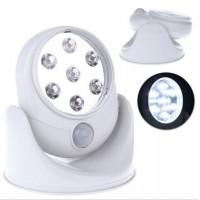 LAMPADA A 7 LED CON SENSORE DI MOVIMENTO E CREPUSCOLARE.ALIMENTAZIONE 3 BATT AA.