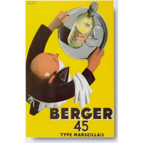 REPLICA TARGA VINTAGE BERGER 45
