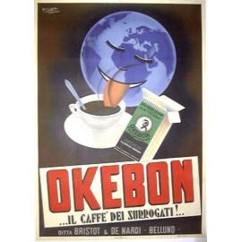 REPLICA TARGA VINTAGE CAFFE' OKEBON