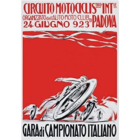 REPLICA TARGA VINTAGE CIRCUITO MOTOCICLISTICO di PADOVA 1923
