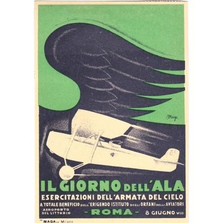 REPLICA TARGA VINTAGE IL GIORNO DELL' ALA 1930