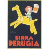 REPLICA TARGA VINTAGE BIRRA PERUGIA